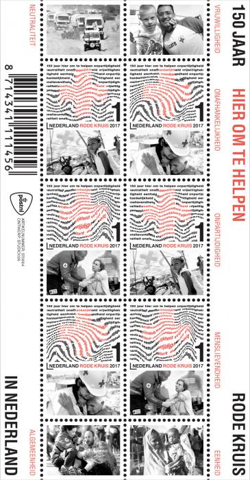 postzegel-Rode-Kruis-150-jaar-postnl-vel